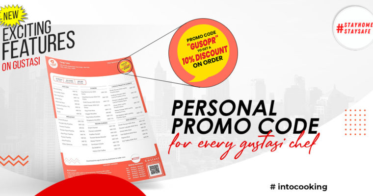 New Exciting Features on Gustasi – PERSONAL PROMO CODE FOR EVERY GUSTASI CHEF