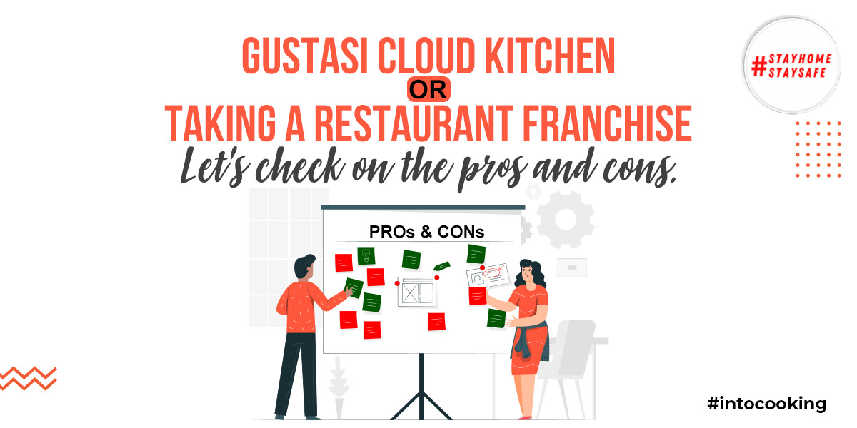 GUSTASI CLOUD KITCHEN OR TAKING A RESTAURANT FRANCHISE   Pros and Cons